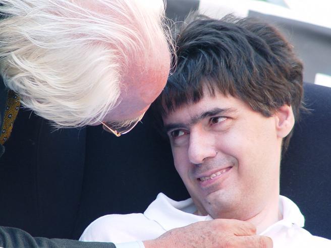 Luca Coscioni con Marco Pannella
